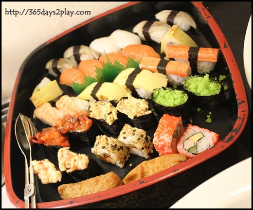 Grand Park City Hall - Assorted Sushi and California Maki platter