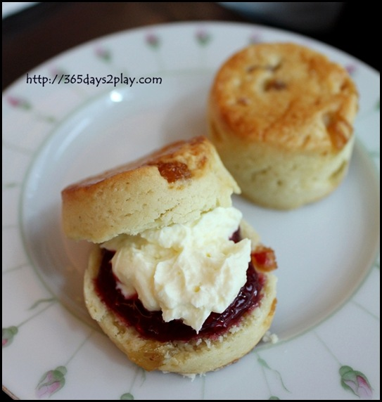 Shangri La Rose Veranda - Scones with Whipped Cream and Jam