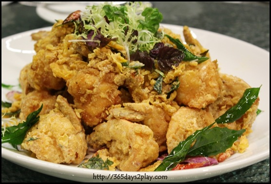 Crowne Plaza Changi Airport Azur Restaurant - Sautéed Sea Prawn with Planta Butter and Salted Egg (2)