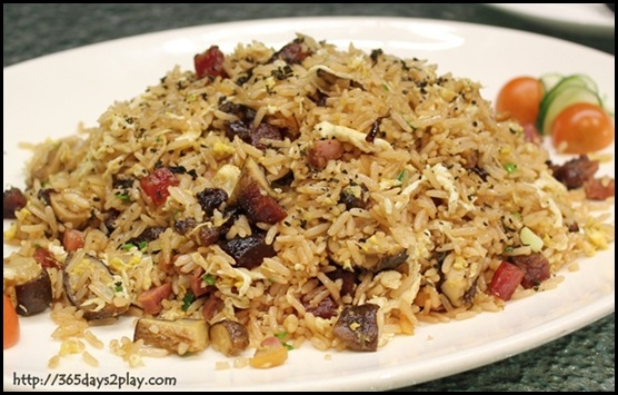 Crowne Plaza Changi Airport Azur Restaurant - Wax Meat Fried Rice with Tea Leaf and Scallion