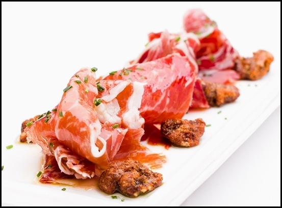 Halia Appetiser - Jamon Iberico Bellota, baked Yuzu walnut & olive oil