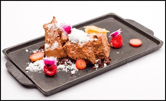 Halia Dessert - Solid Chocolate Air & White Truffle Snow