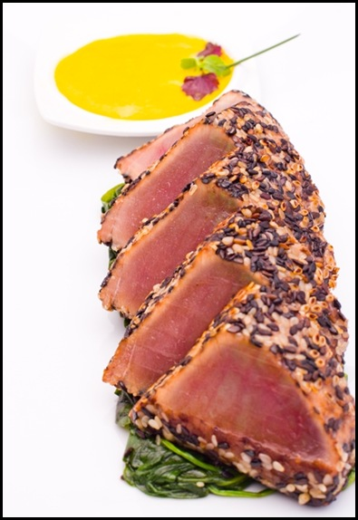 Halia Main - Black & White Sesame Crusted Tuna Tataki