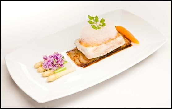 Halia Main - Pan-fried Hiramasa Kingfish with Grapefruit Foam