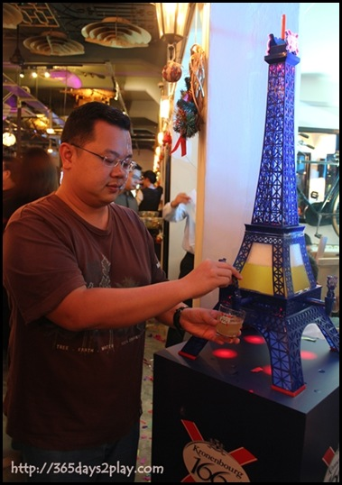 Kronenbourg 1664 Party at Coastal Settlement - The iconic Kronenbourg 3L Eiffel Beer Tower