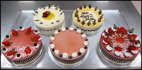 Baking Industry Training Centre - Bavarian cakes with various designs