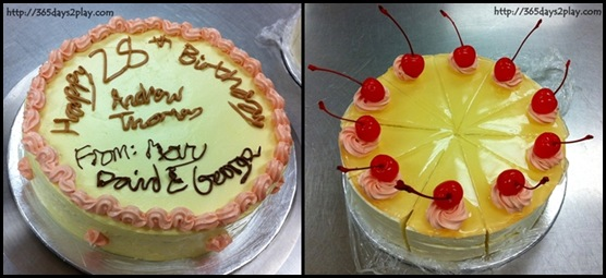 Baking Industry Training Centre - My exam cakes (Bavarian and Birthday Cake)