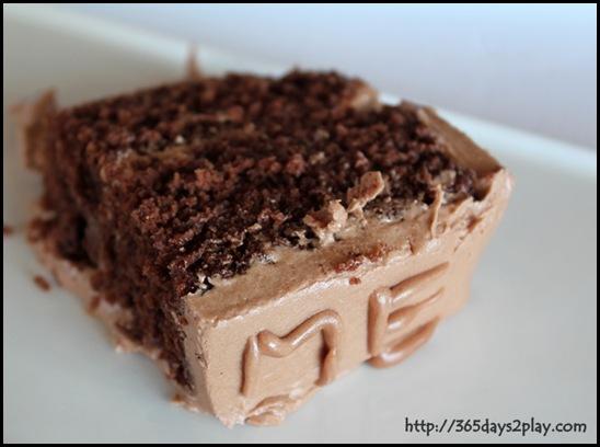Happy Birthday to Me Cake slice