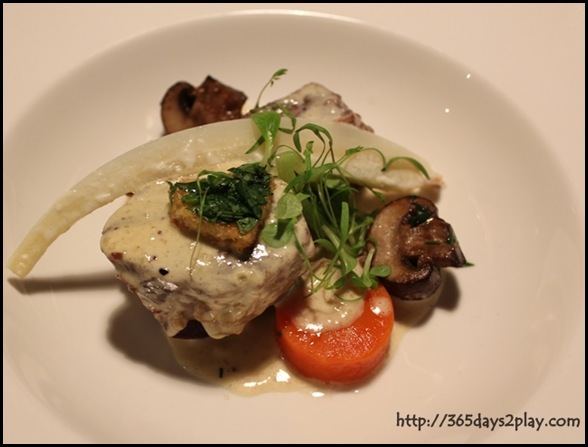 Pantry at The Stables - Blanquette of beef brisket with trimmed root vegetables, wild mushrooms and shaved truffle  (2)