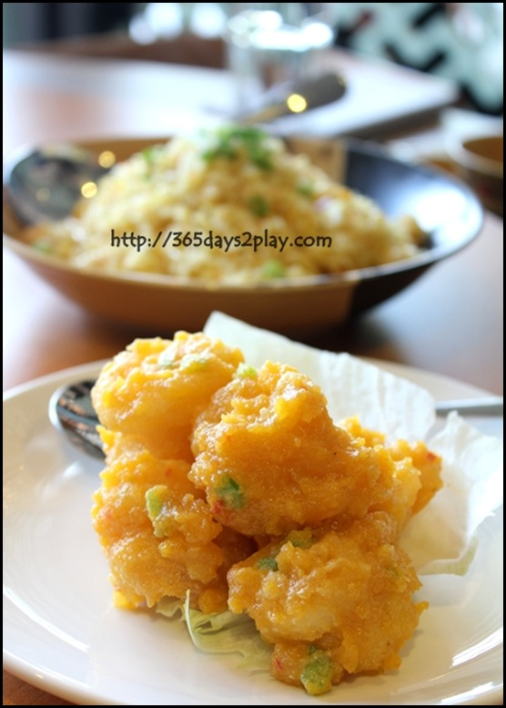 Paradise Inn - Salted Egg yolk Prawns