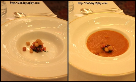 Brasserie Les Saveurs - Spicy Roasted Tomato Soup with olives and basil (2)-tile