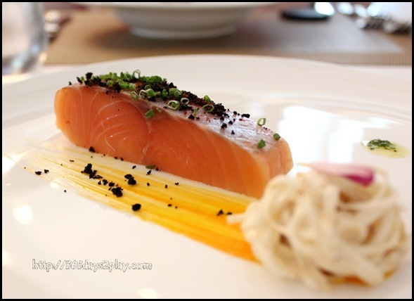 Boathouse - Petuna Ocean Trout with celery root remoulade, sauce rouille