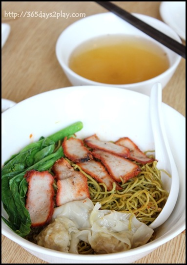 Food Republic @ 112 Katong - Cho Kee Wanton Noodle Stall Fried Dumpling Spinach Noodle $7