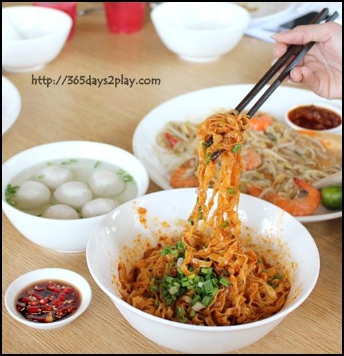 Food Republic @ 112 Katong - Li Xin Teowchew Fishball Noodle Stall Mee Pok dry $4.50