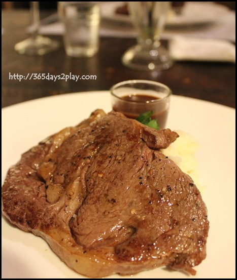 Laurent Bernard Chocolatier - Grilled Rib Eye steak with Guanaja chocolate orange sauce