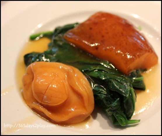 Lunch Wedding at Min Jiang @ one North - Braised 8 Head Abalone with Sea Cucumber and Seasonal Vegetables