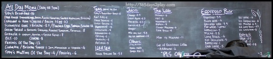 Toby's Estate Menu