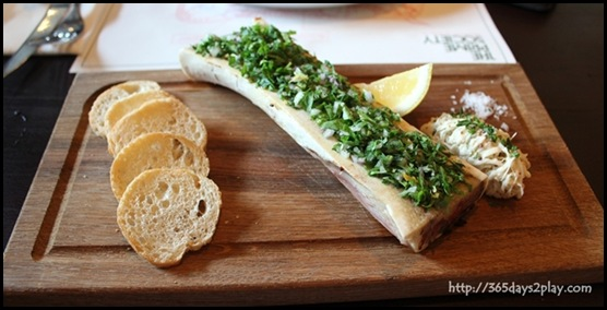 Prime Society - Bone Marrow with Celeriac Remoulade, Parsley and Toast $16 (2)