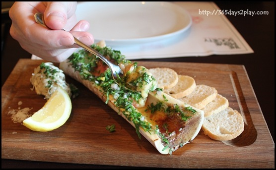 Prime Society - Bone Marrow with Celeriac Remoulade, Parsley and Toast $16