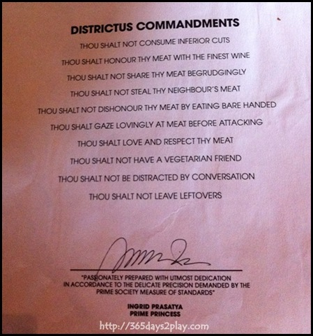 Prime Society - Commandments