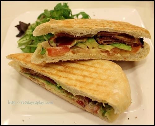 Room.Coffee.Bar - Bacon Avocado and Tomato Panini Sandwich $10