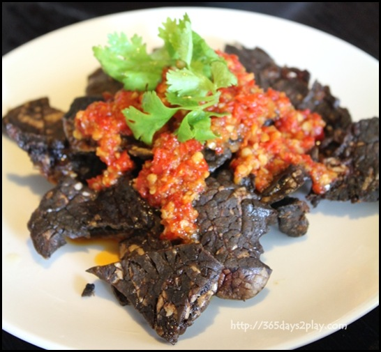 Rumah Rasa - Paru Belado (Crispy Beef Lungs served with chopped chilli and onions) $12