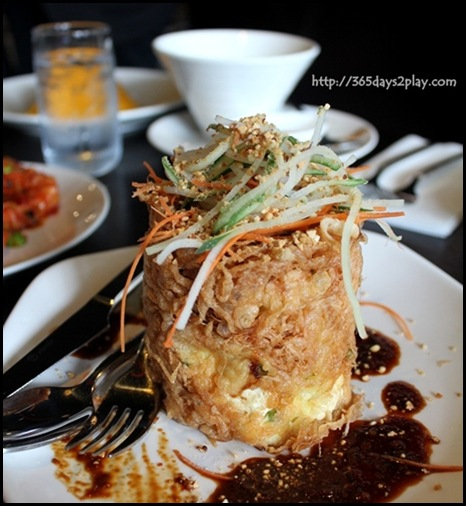 Rumah Rasa - Tahu Telur Surabaya (Fried Beancurd and Egg Combo, topped with Sweet & Spicy Dark Sauce) $8