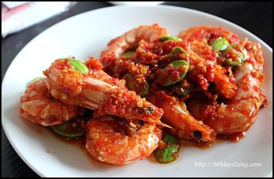 Rumah Rasa - Udang Petai Belado (Prawns Stir-Fried in Chilli gravy with Petai Beans) $18