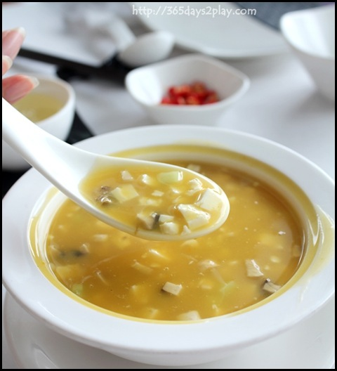 Crystal Jade Dining IN - Pumpkin soup with Seafood $12