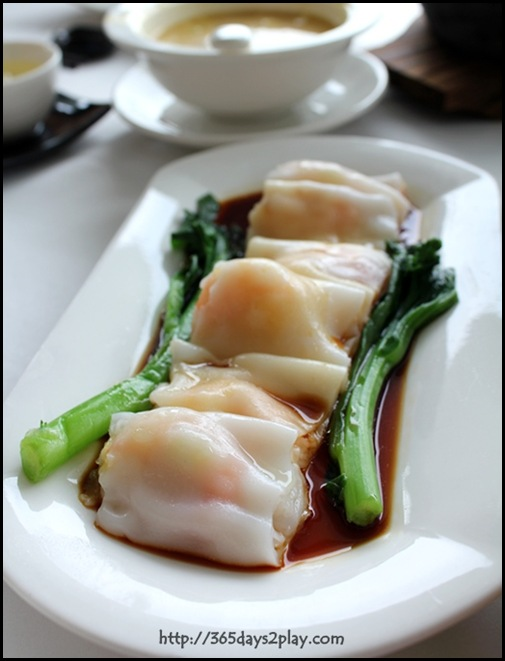 Crystal Jade Dining IN - Steamed Cheong Fun aka Rice Roll with Shrimp $5.50