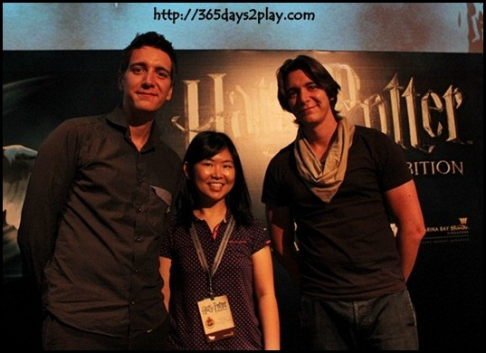 Harry Potter The Exhibition - George and Fred Weasley (James and Oliver Phelps) with me!