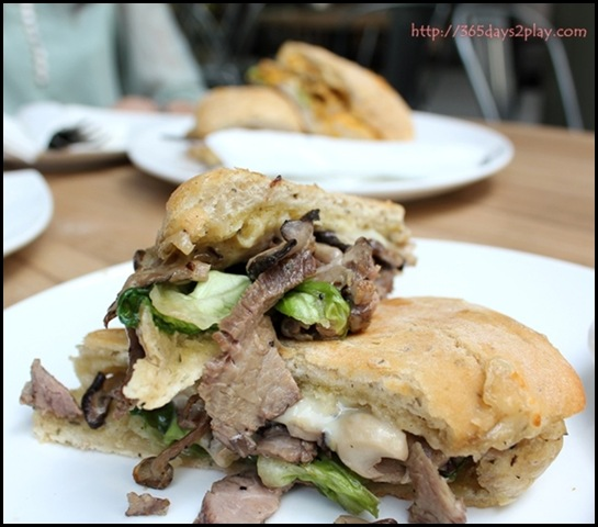 Jewel Coffee - Ribeye Sandwich with cheese, mushroom, butterhead lettuce