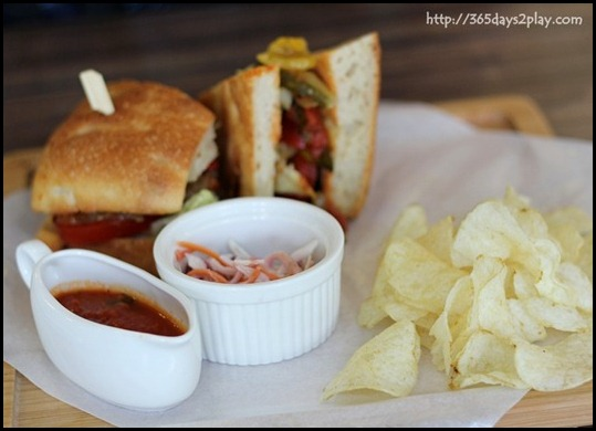 Cafe Crema - Mediterranean Vegetable Sandwich $17 (3)