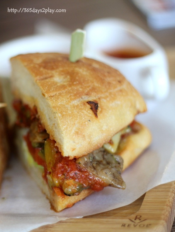 Mediterranean Vegetable Sandwich (Grilled Zucchini, peppers, sun-dried ...
