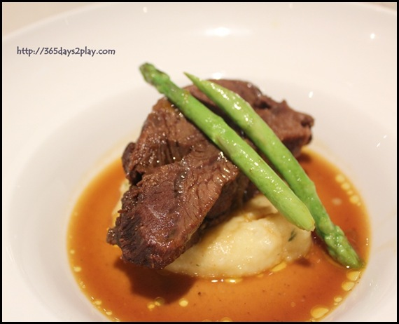 Covelli Italian Bistro - 24 hrs slow braised USDA boneless Beef Short Ribs served with Truffle Mash