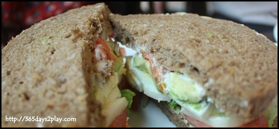 Nassim Hill - Crunchy Veggies sandwich with sliced egg, avocado, cucumber, greens and cherry tomato confit on sunflower seed bread $12 (2)