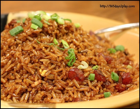313 Somerset Paradise Inn - Fried Rice with Chinese Sausages and Mushrooms