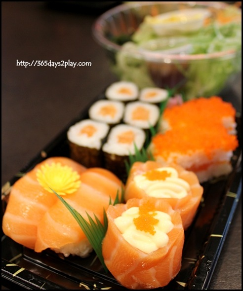 313 Somerset Umisushi - All Salmon Platter $9.40