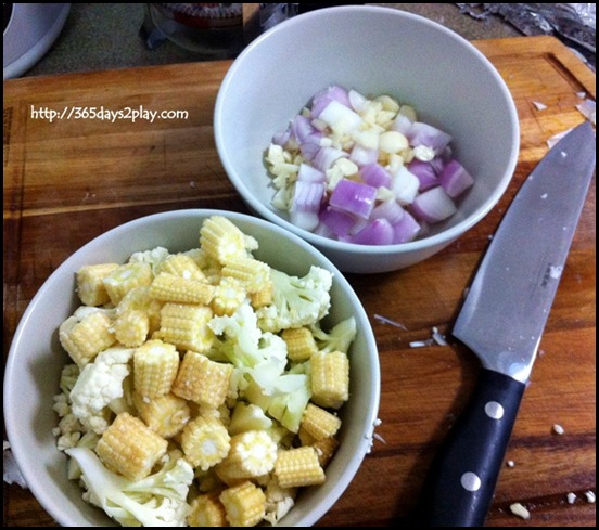 Cook for Family - Raw vegetables Diced