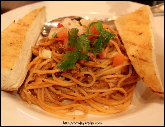 Hard Rock Cafe - Chilli Crab Spaghetti $26