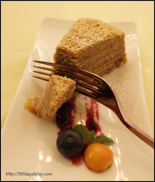Buyan Restaurant - Russian Honey Cake (2)