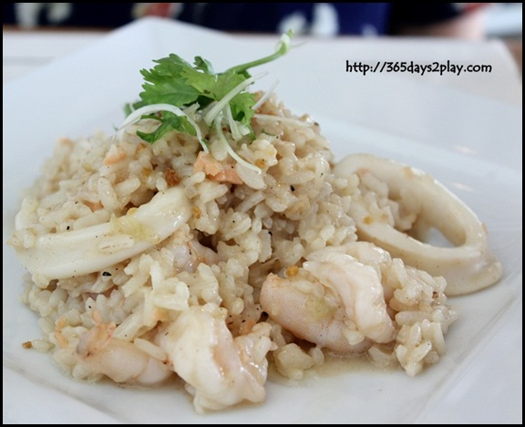 Food For  Thought - Calamari, Prawn and Salmon Risotto