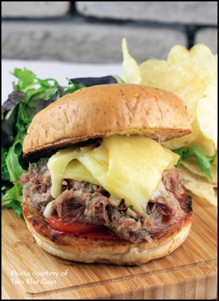 Two Blur Guys - Duck Rilette Burger $10.50