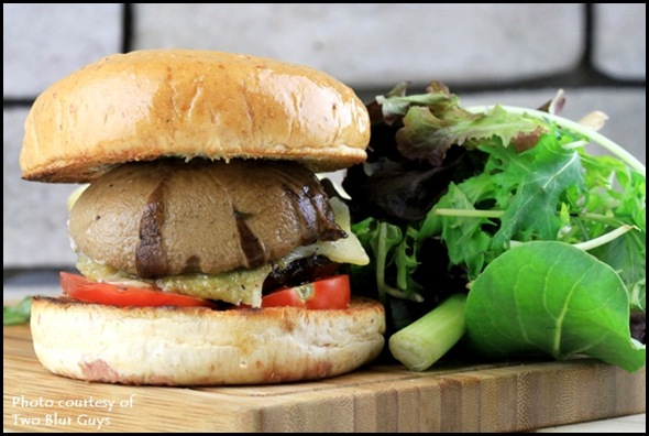 Two Blur Guys - Portobello Mushroom Burger $9.50