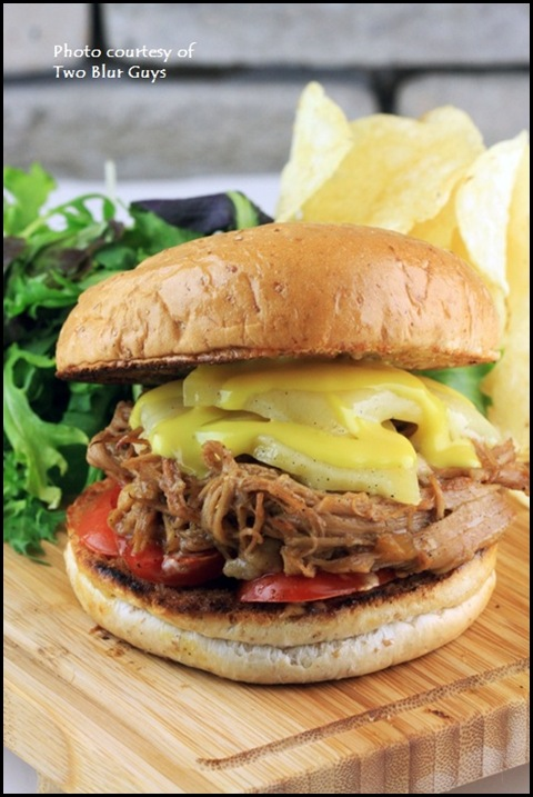 Two Blur Guys - Pulled Pork Burger $11.50