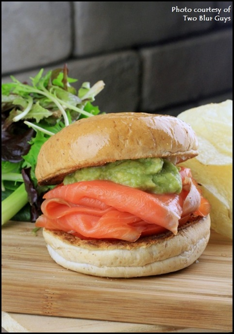 Two Blur Guys - Smoked Salmon Burger $9.50