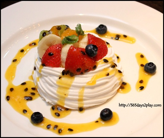 Wooloomooloo - Pavlova, served with Chantilly cream, fresh fruits and passion fruit coulis $18 (2)