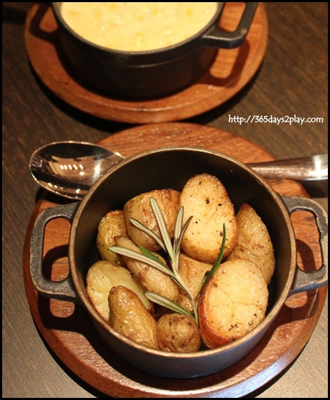 Wooloomooloo - Sauteed Kipfler Potatoes $14 and Creamy Corn $12