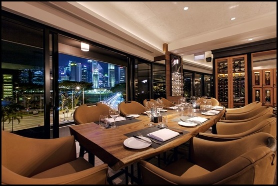Wooloomooloo Steakhouse Lounge Bali Suar Wood Table   view 2