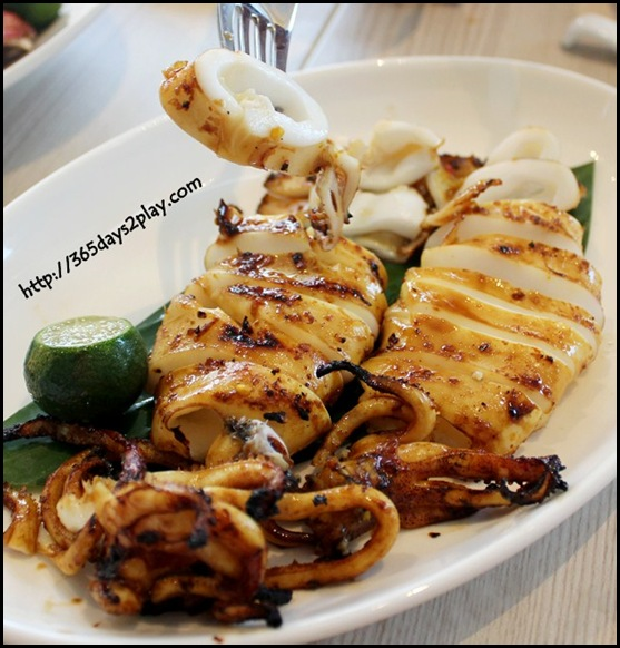 Boxing Crab Seafood Restaurant - Charcoal Grilled Marinated Squid
